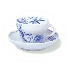 Meissen Blue Onion Coffee Cup & Saucer